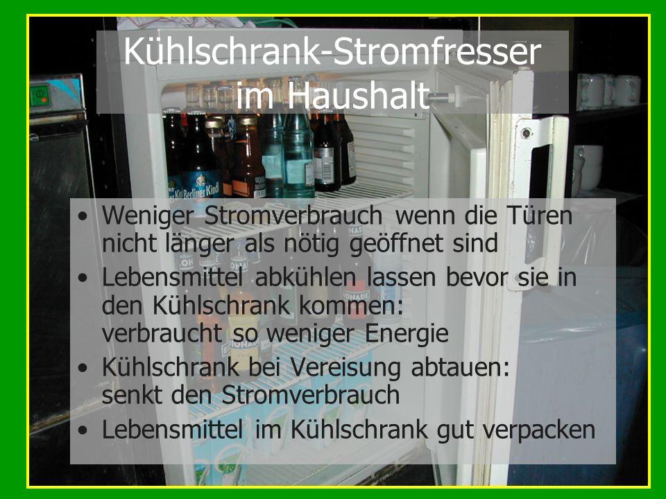 Kühlschrank-Stromfresser im Haushalt
