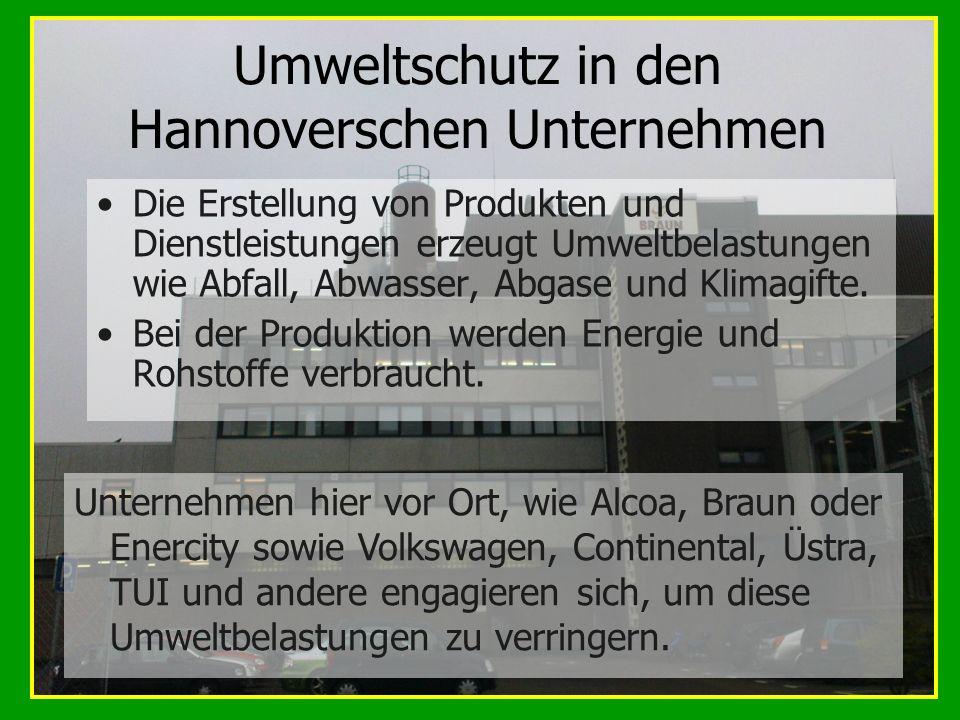 Umweltschutz in den Hannoverschen Unternehmen