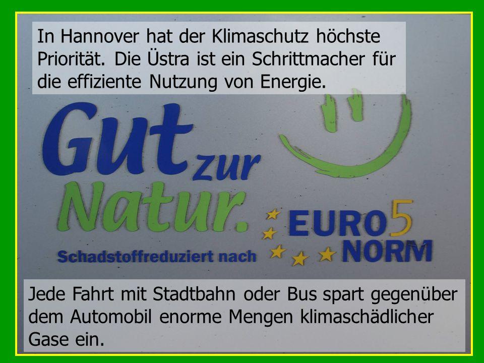 In Hannover hat der Klimaschutz höchste Priorität