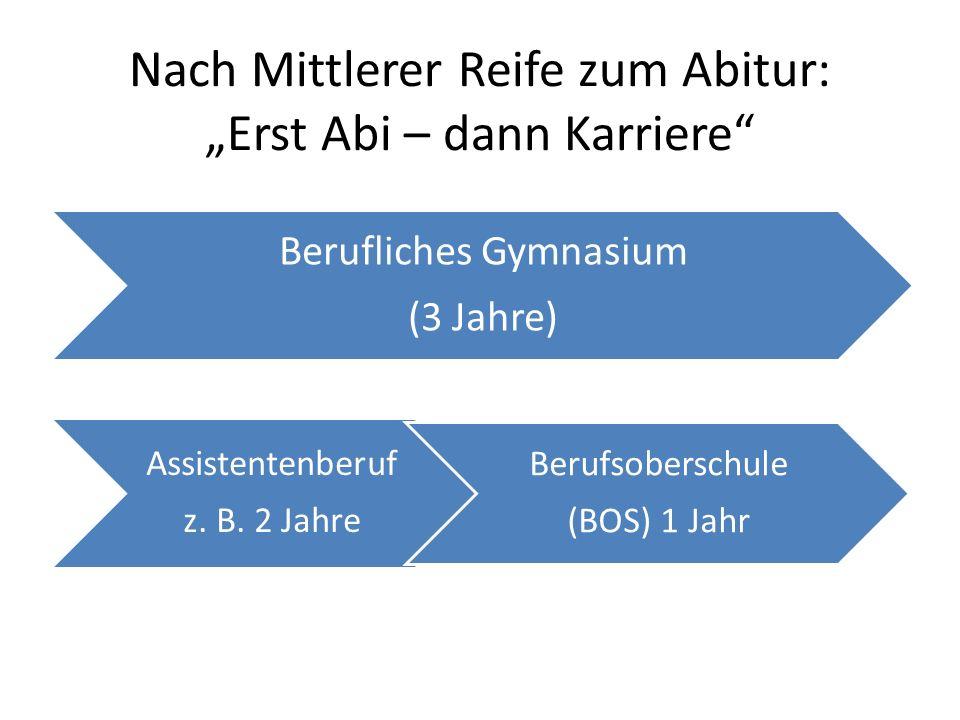 """Nach Mittlerer Reife zum Abitur: """"Erst Abi – dann Karriere"""