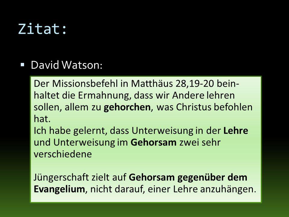 Zitat:David Watson: