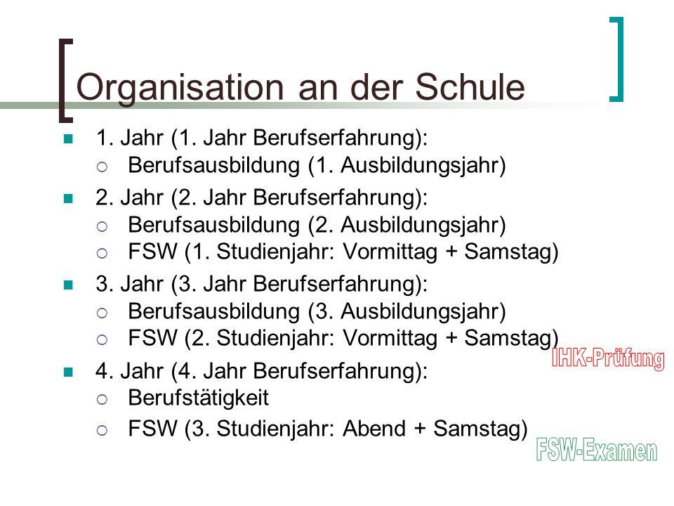 Organisation an der Schule