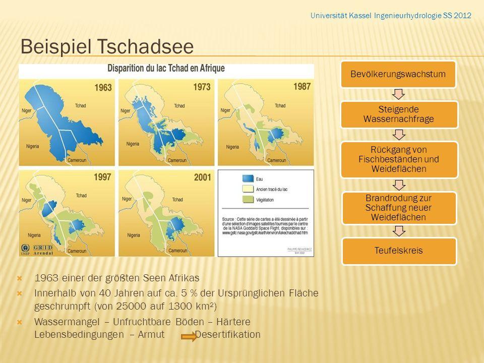 Beispiel Tschadsee 1963 einer der größten Seen Afrikas