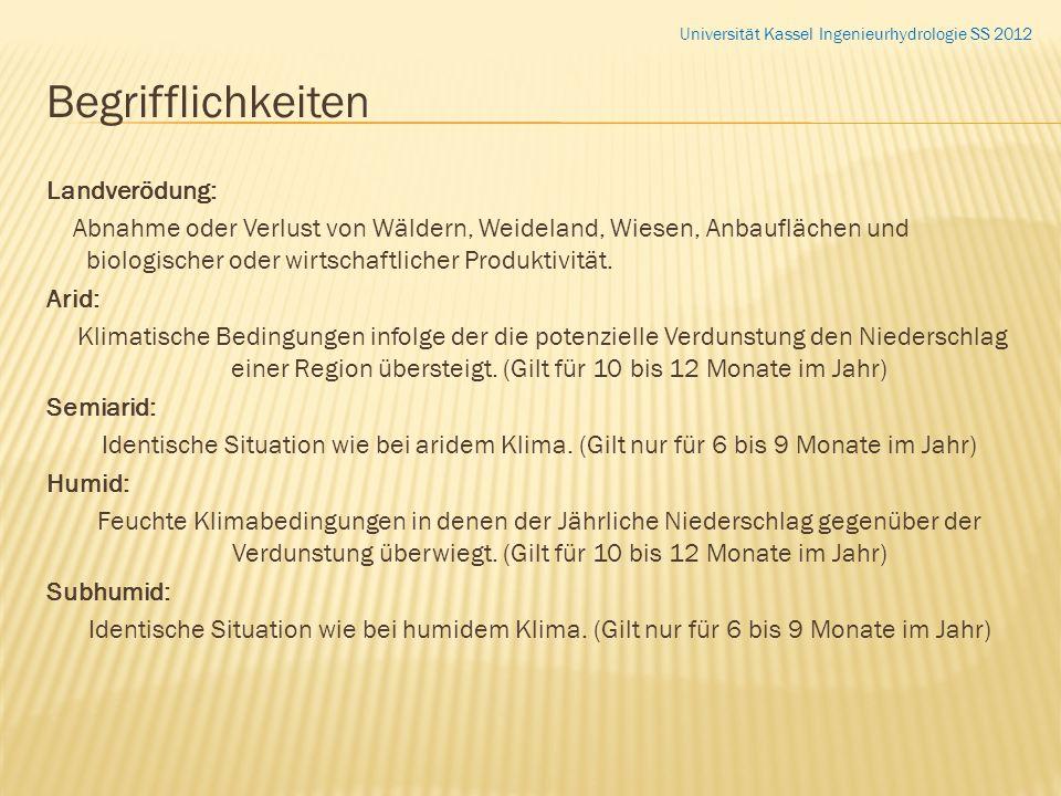 Begrifflichkeiten Landverödung: