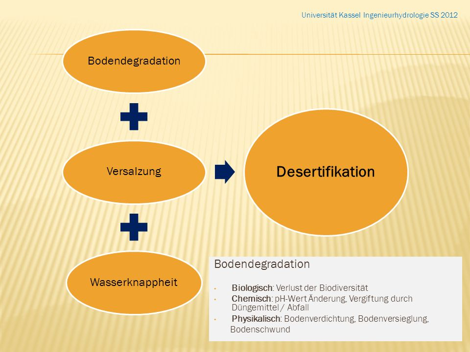 Desertifikation Bodendegradation Bodendegradation Versalzung