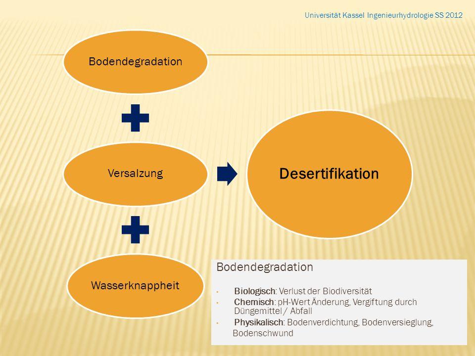 Desertifikation Bodendegradation Bodendegradation Versalzung
