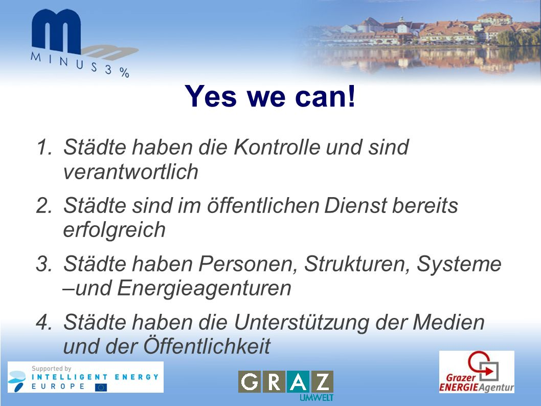 Yes we can! Städte haben die Kontrolle und sind verantwortlich