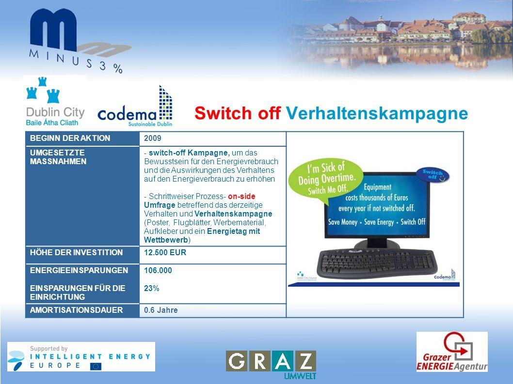Switch off Verhaltenskampagne