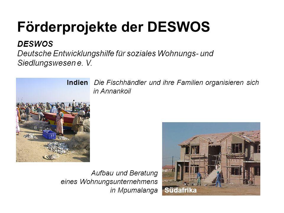 Förderprojekte der DESWOS