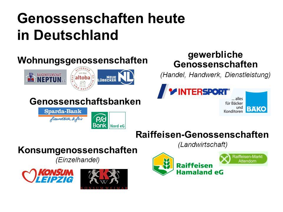 Genossenschaften heute in Deutschland