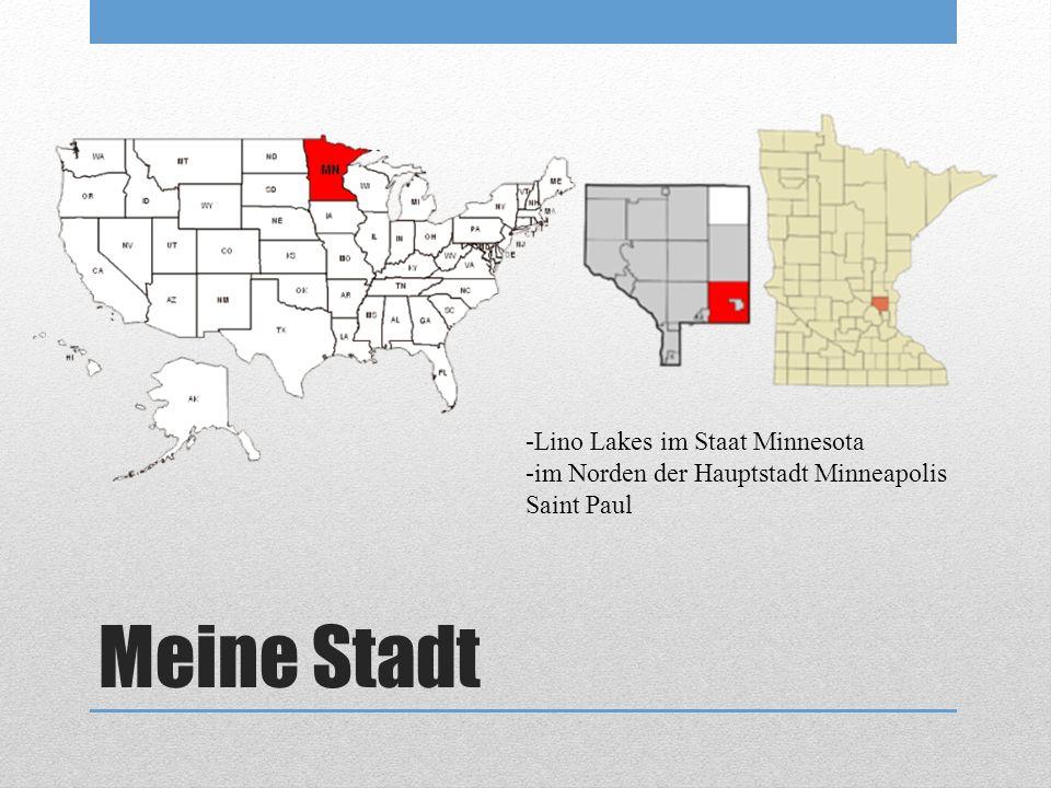 Meine Stadt -Lino Lakes im Staat Minnesota