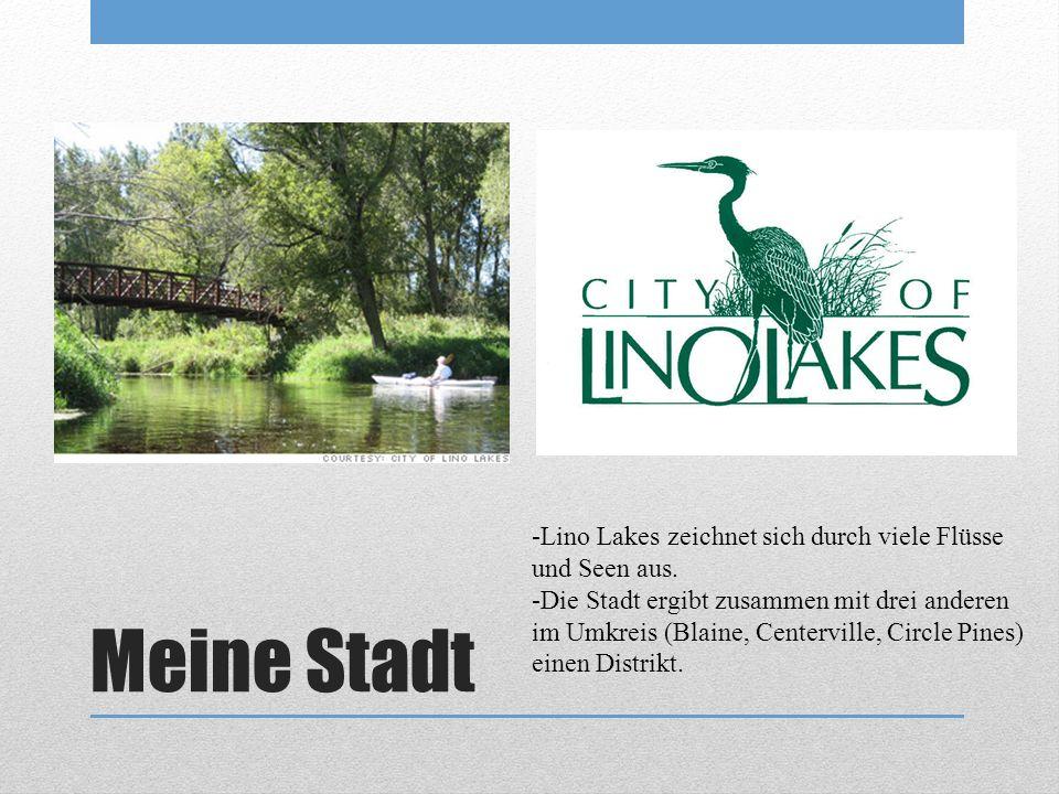Meine Stadt -Lino Lakes zeichnet sich durch viele Flüsse und Seen aus.