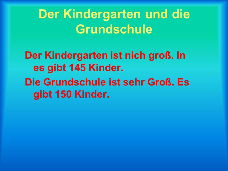 Der Kindergarten und die Grundschule