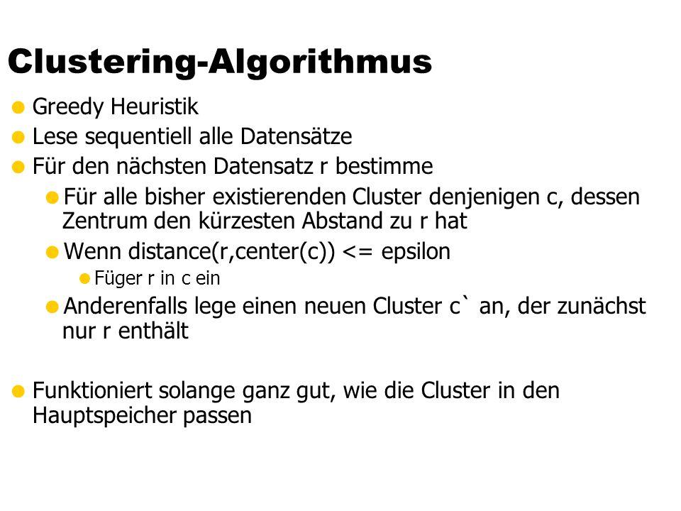 Clustering-Algorithmus