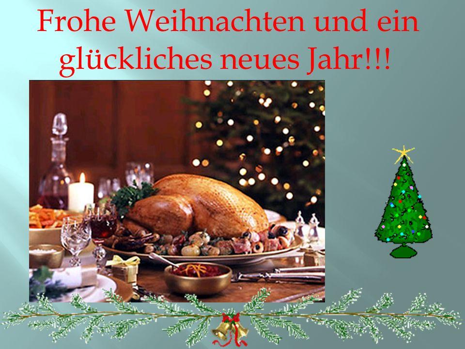 Frohe Weihnachten und ein glückliches neues Jahr!!!