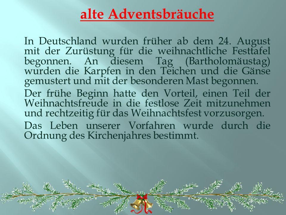 alte Adventsbräuche