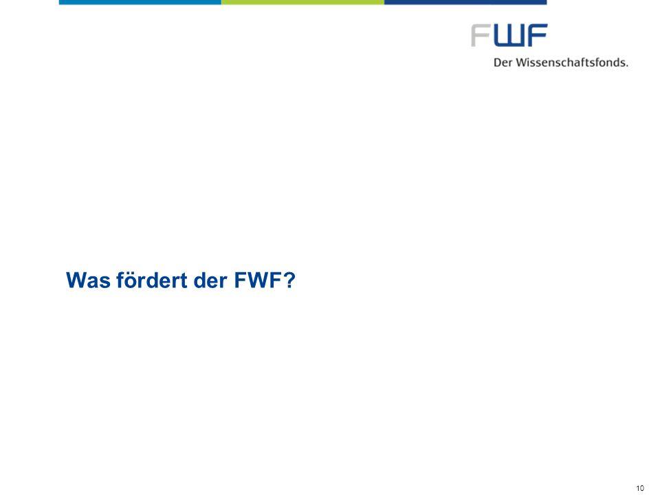 Was fördert der FWF 10