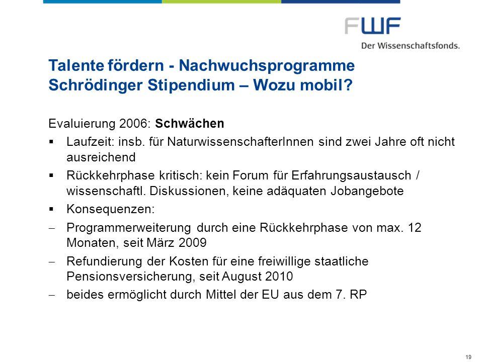 Talente fördern - Nachwuchsprogramme Schrödinger Stipendium – Wozu mobil