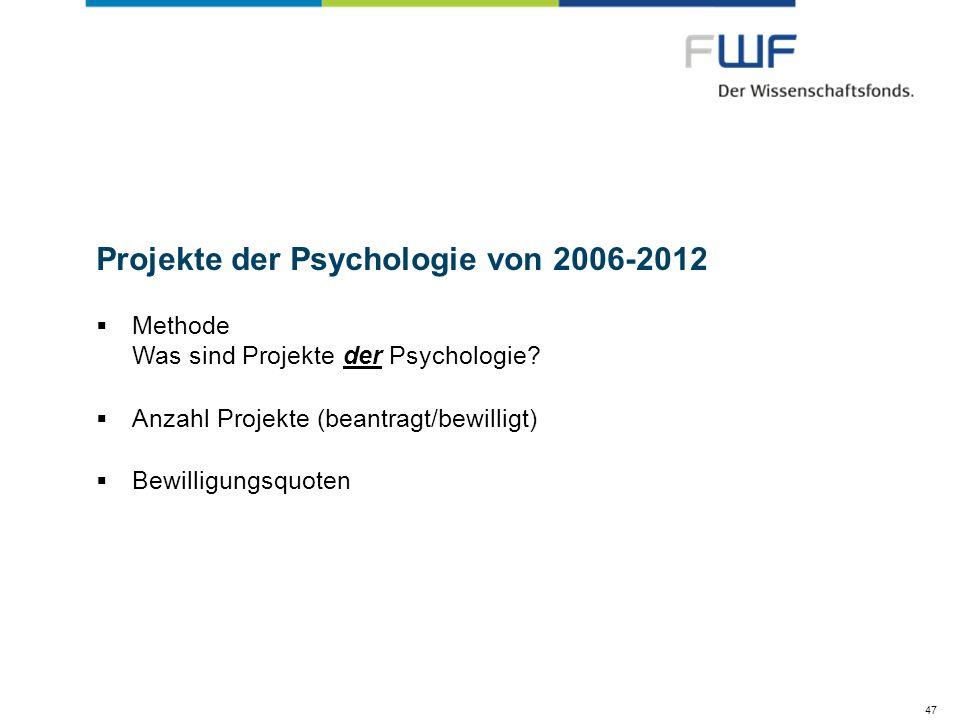 Projekte der Psychologie von 2006-2012