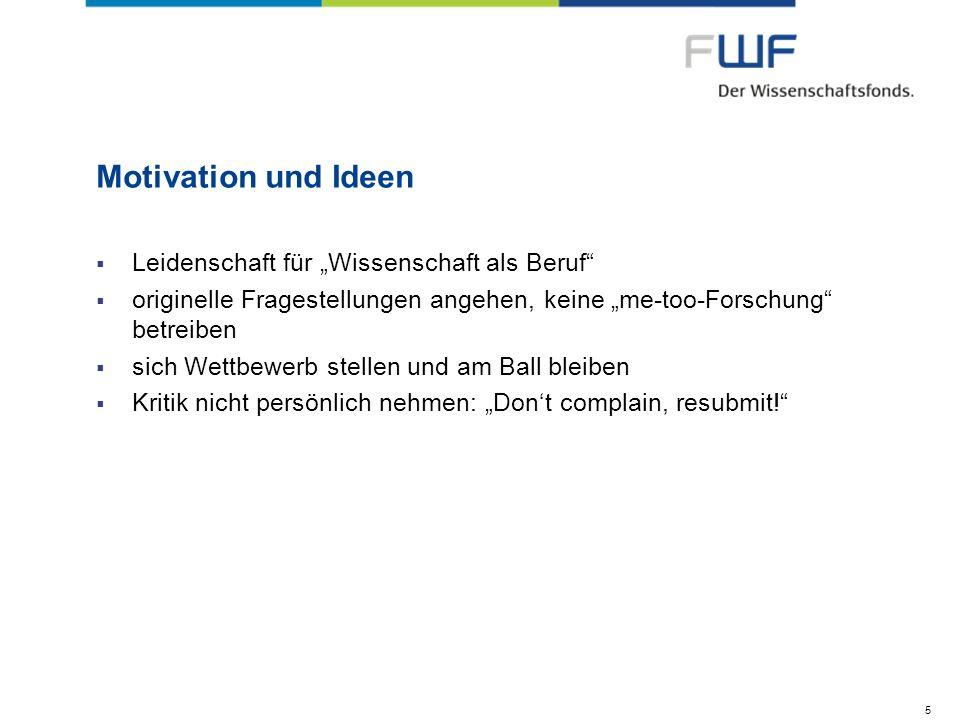 """Motivation und Ideen Leidenschaft für """"Wissenschaft als Beruf"""