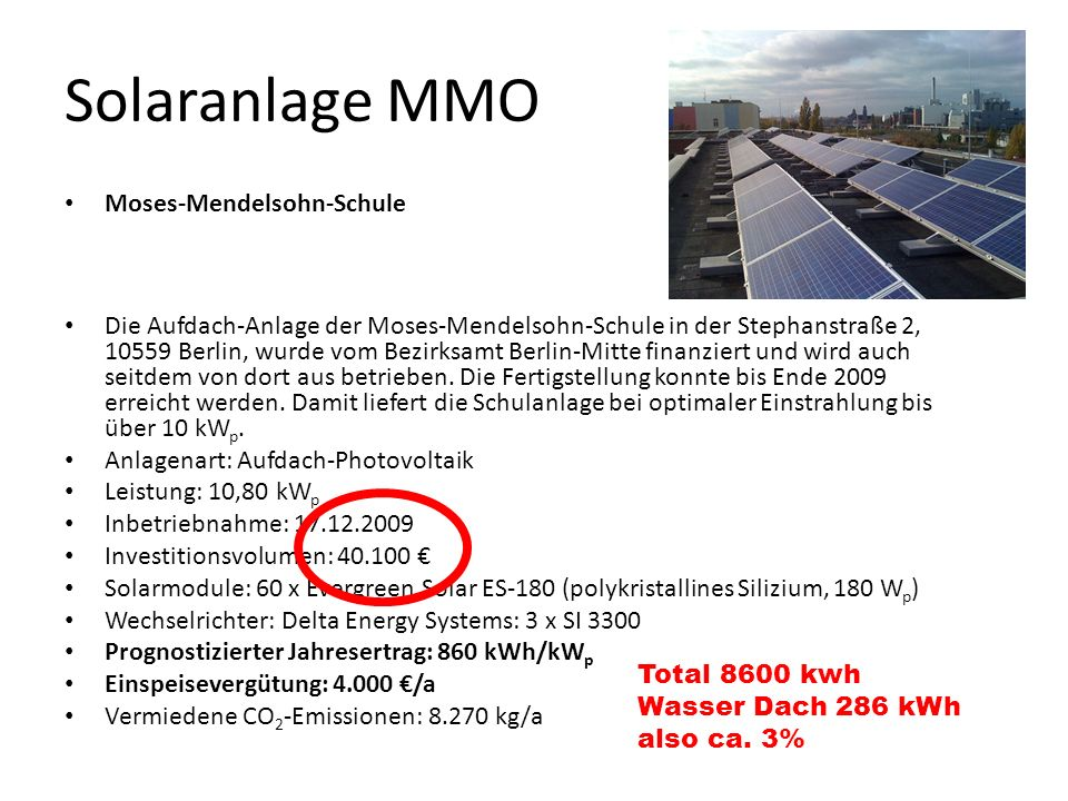 Solaranlage MMO Moses-Mendelsohn-Schule