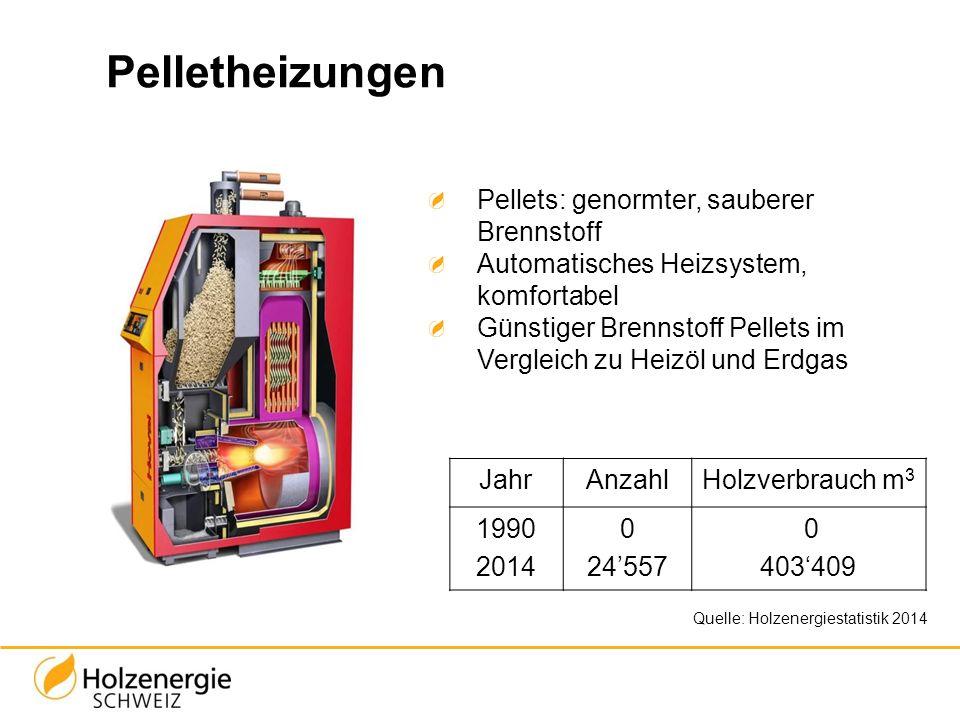 Pelletheizungen Pellets: genormter, sauberer Brennstoff