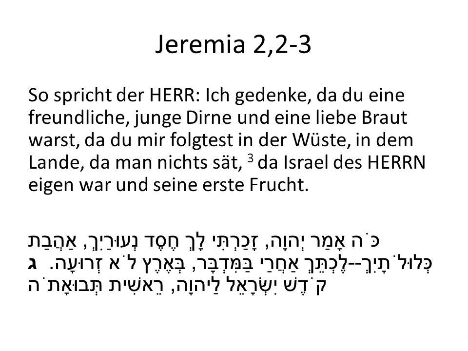 Jeremia 2,2-3