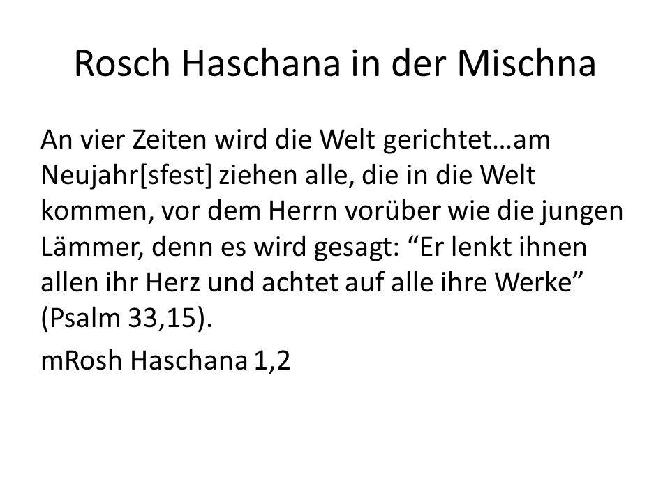 Rosch Haschana in der Mischna