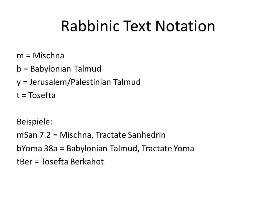 Rabbinic Text Notation