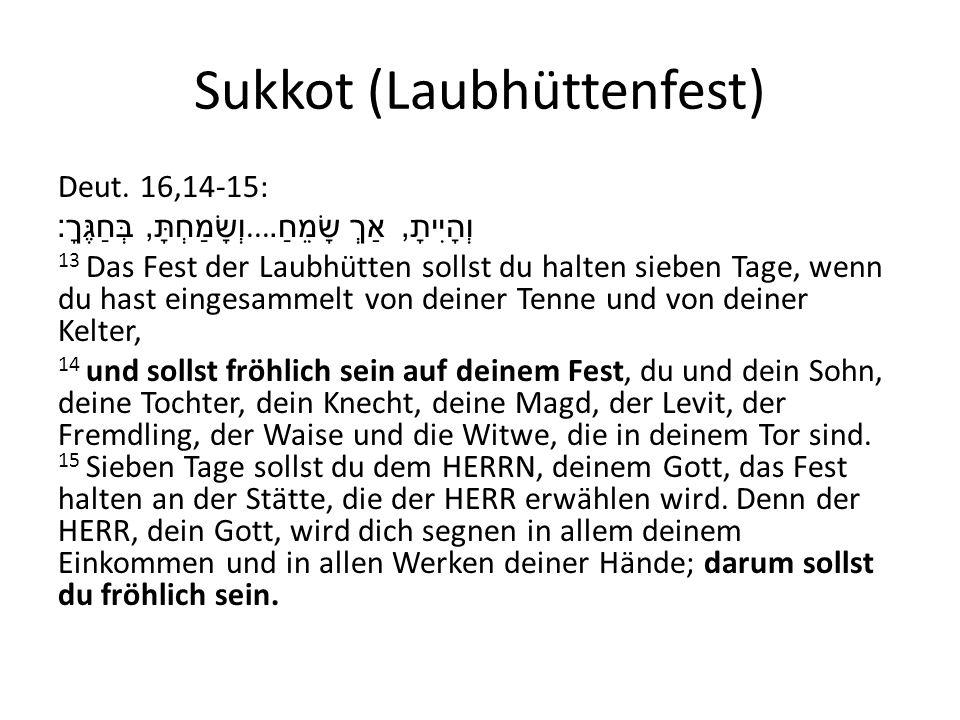 laubhüttenfest der juden
