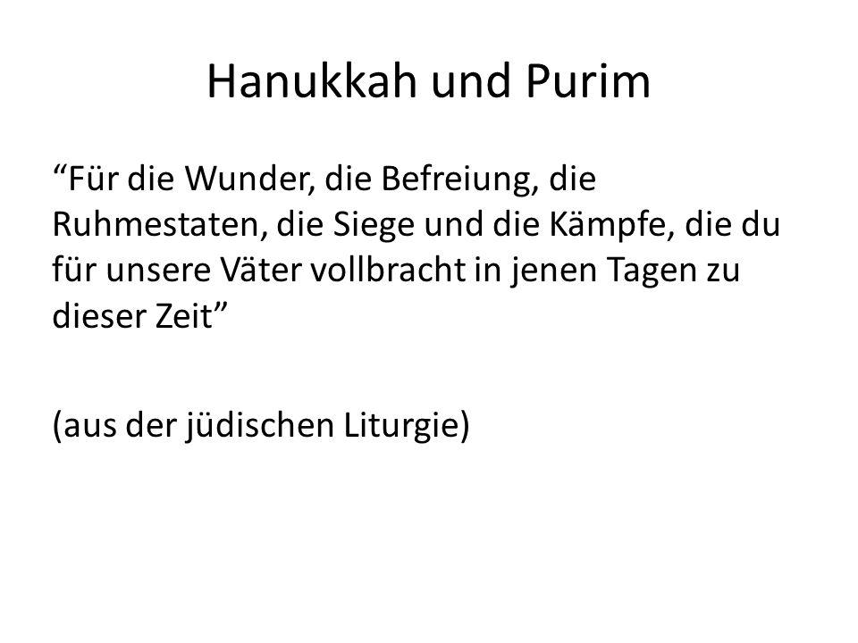 Hanukkah und Purim