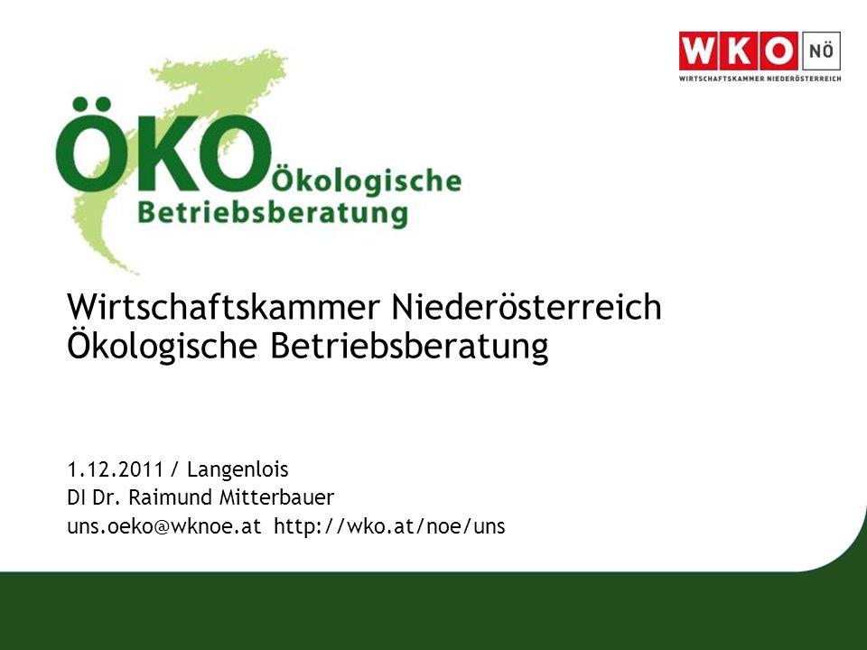 Wirtschaftskammer Niederösterreich Ökologische Betriebsberatung