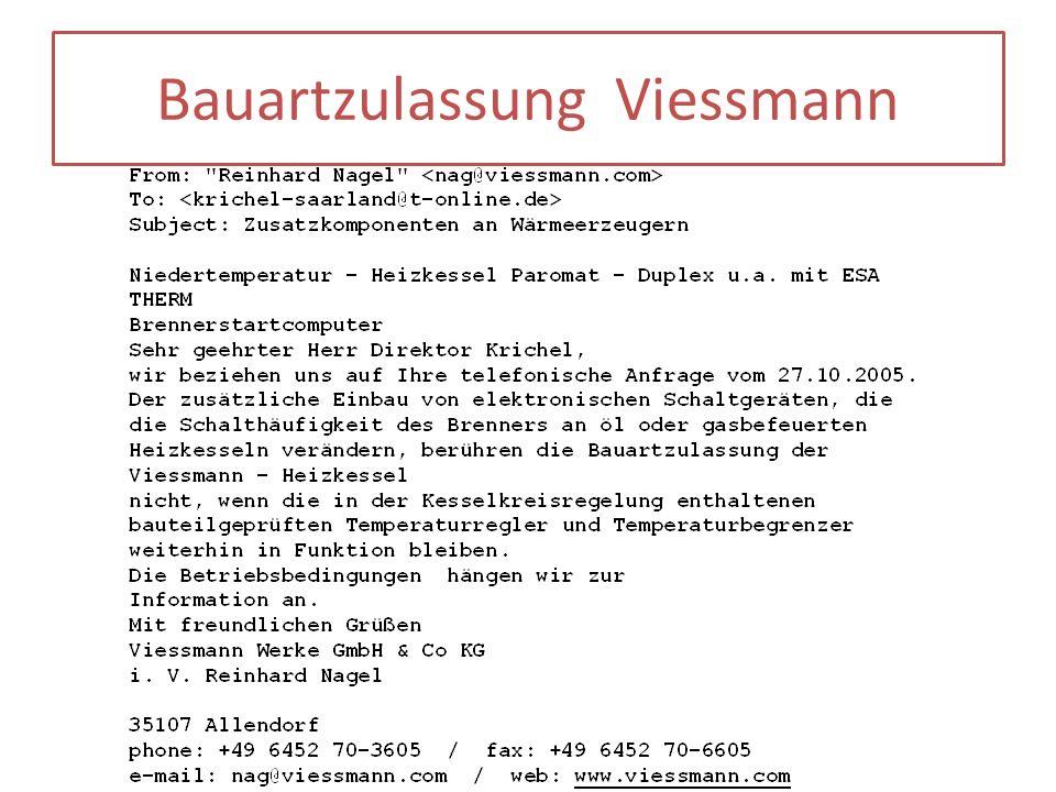 Bauartzulassung Viessmann