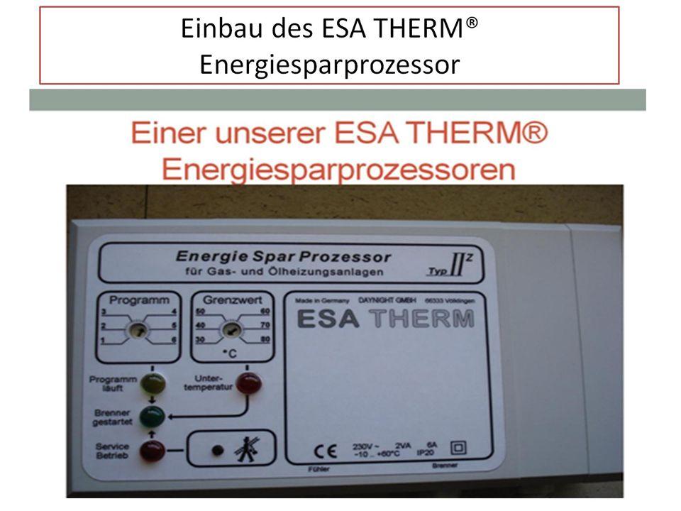 Einbau des ESA THERM® Energiesparprozessor