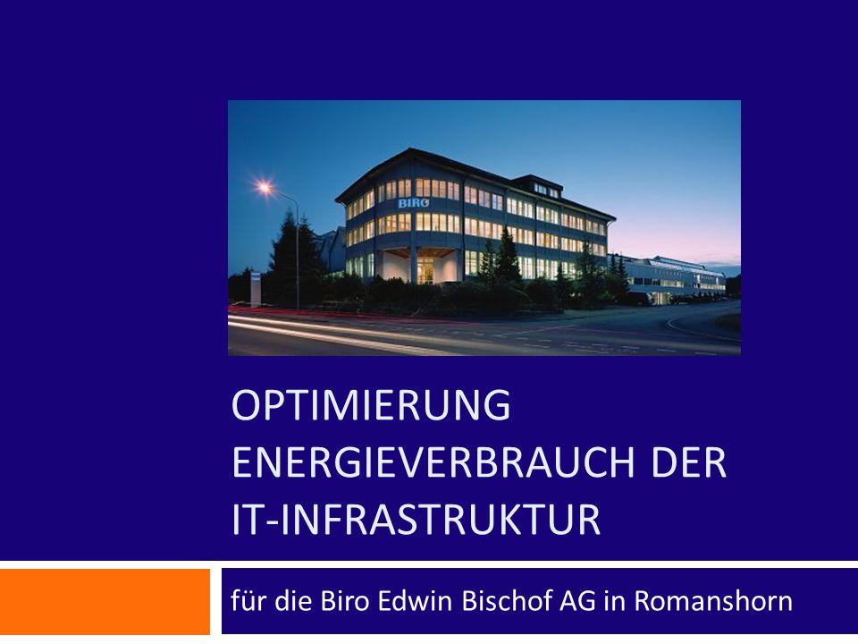 Optimierung Energieverbrauch der IT-Infrastruktur