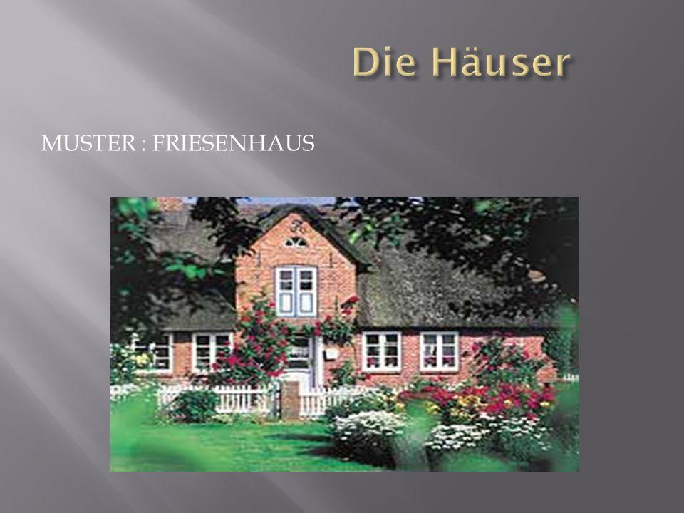 Die Häuser Muster : Friesenhaus