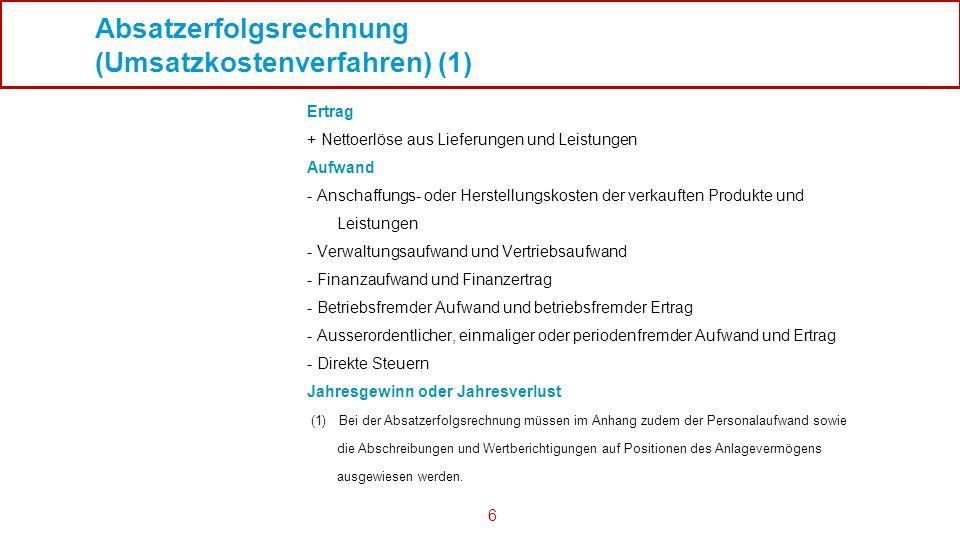 Absatzerfolgsrechnung (Umsatzkostenverfahren) (1)