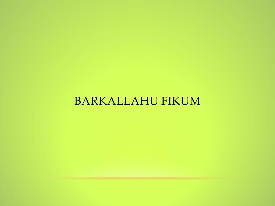 BarkAllahu fikum