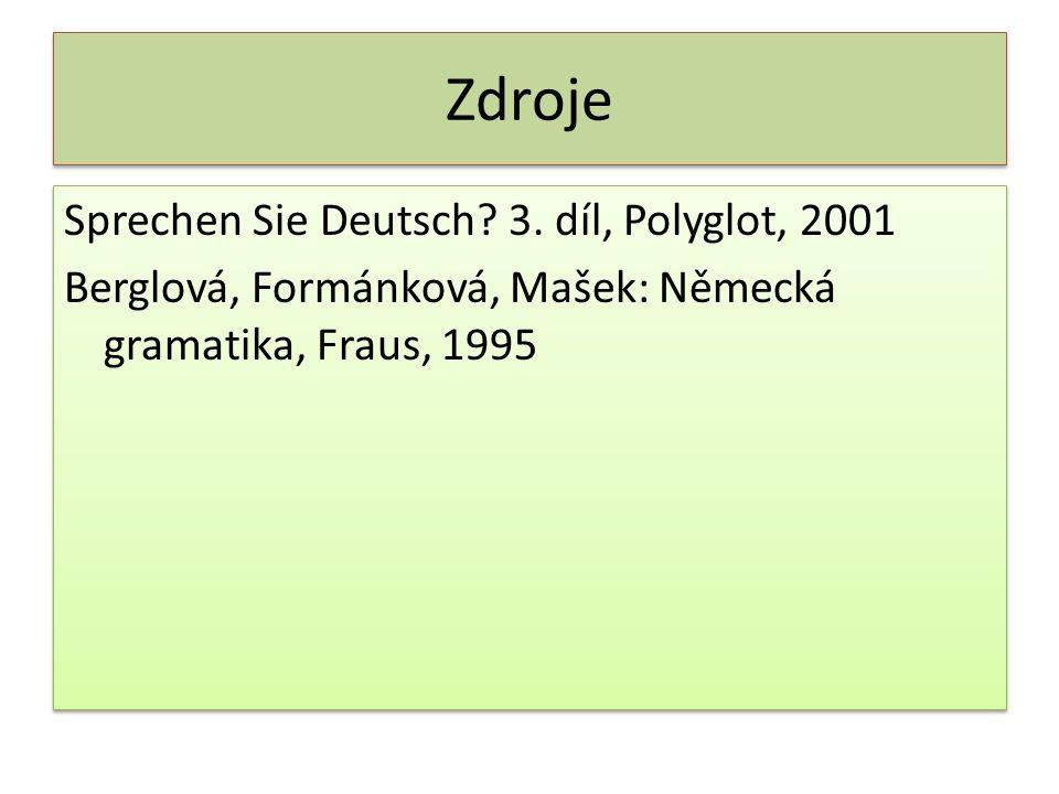 Zdroje Sprechen Sie Deutsch. 3.