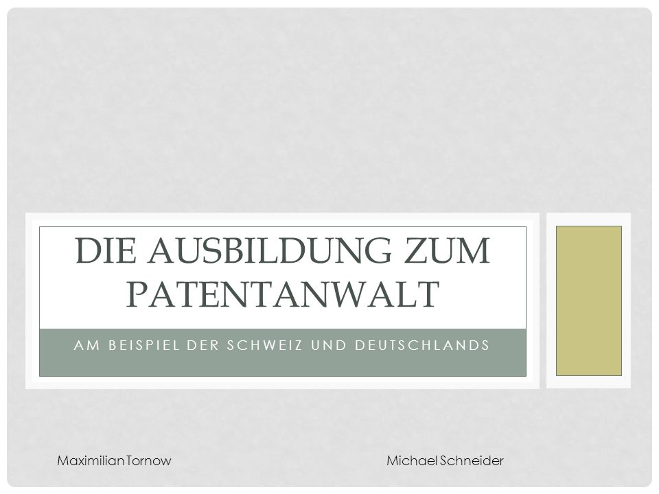 Die Ausbildung zum Patentanwalt