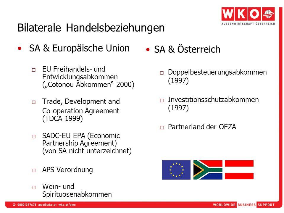Bilaterale Handelsbeziehungen