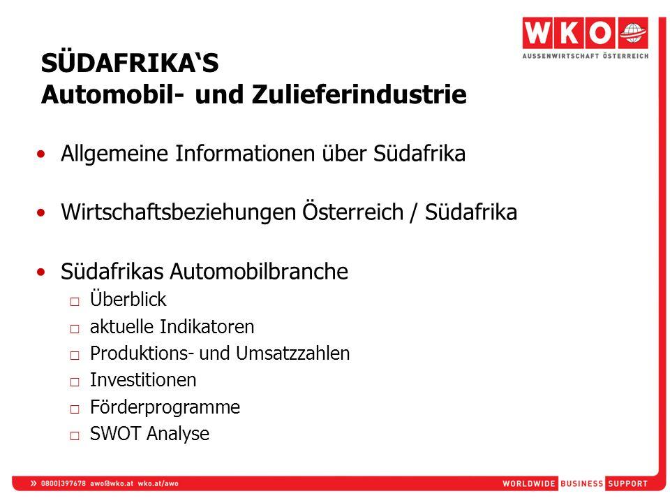 SÜDAFRIKA'S Automobil- und Zulieferindustrie