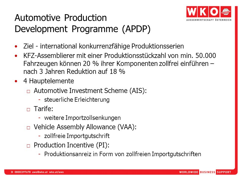 Automotive Production Development Programme (APDP)