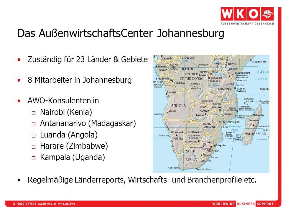 Das AußenwirtschaftsCenter Johannesburg