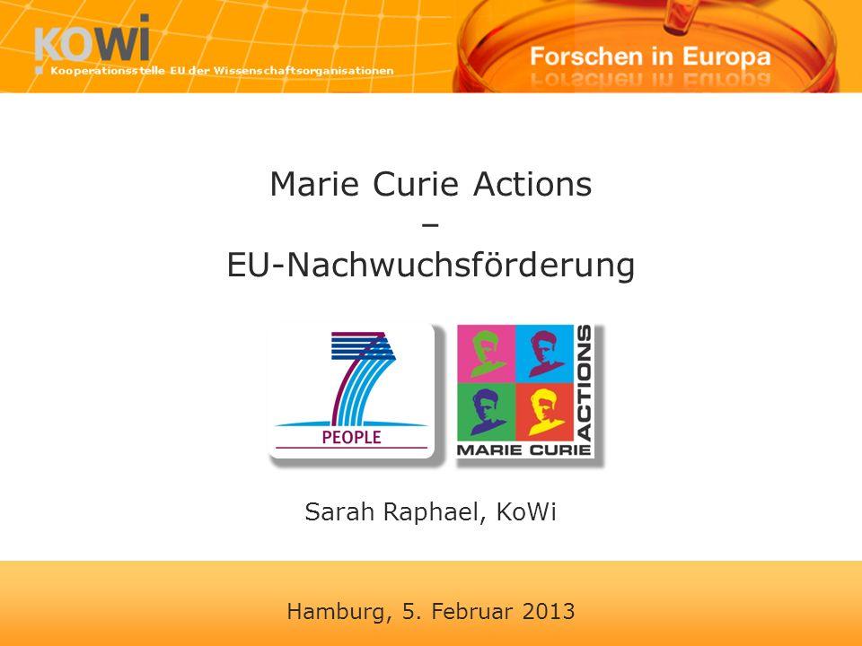 Marie Curie Actions – EU-Nachwuchsförderung