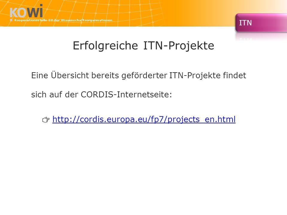 Erfolgreiche ITN-Projekte