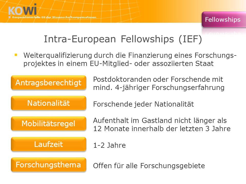 Intra-European Fellowships (IEF)