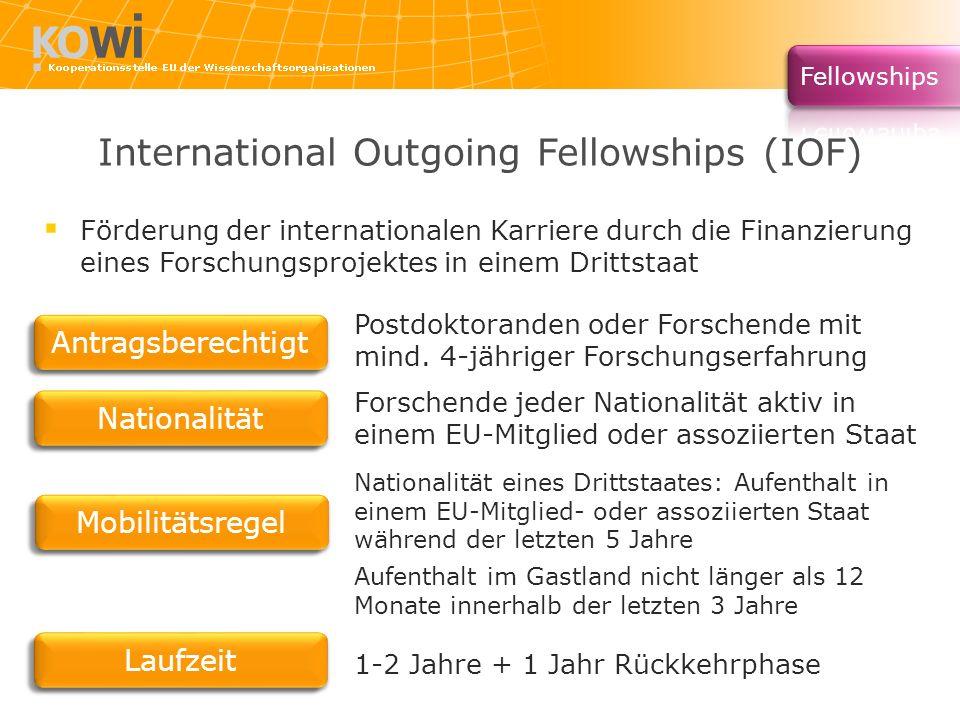 International Outgoing Fellowships (IOF)