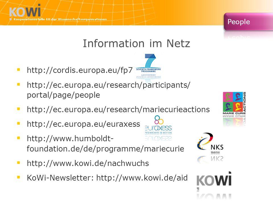 Information im Netz http://cordis.europa.eu/fp7