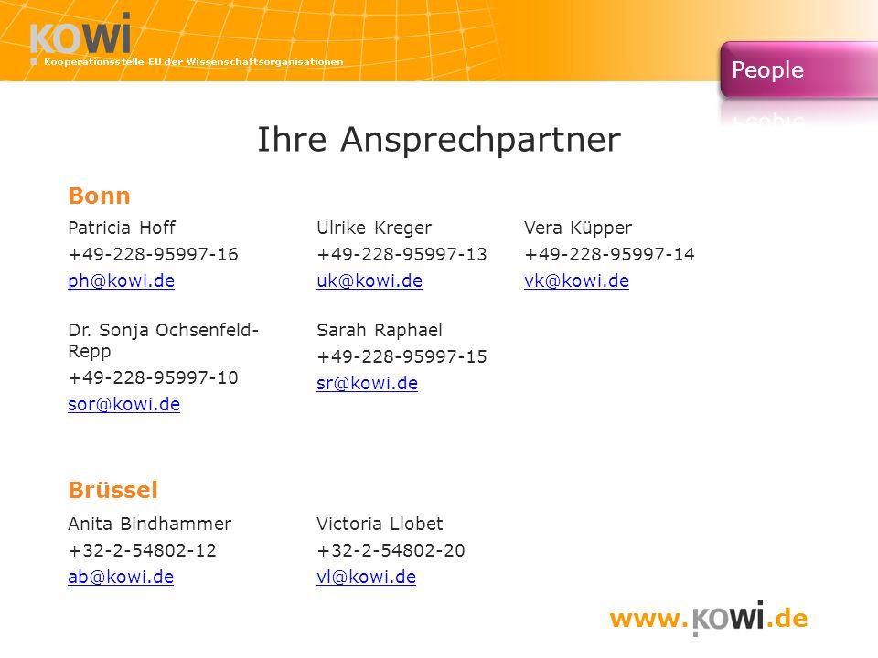 Ihre Ansprechpartner www. .de Bonn Brüssel Patricia Hoff